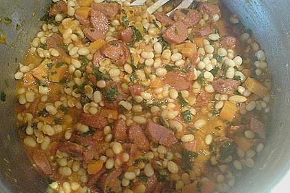 Bohnensuppe mit weißen Bohnen 17