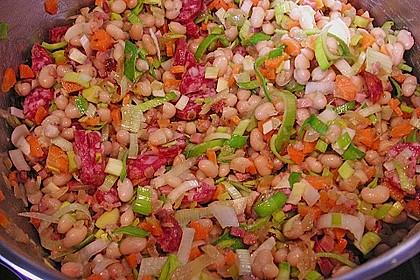 Bohnensuppe mit weißen Bohnen 13