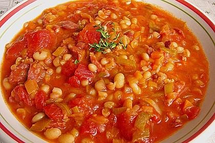Bohnensuppe mit weißen Bohnen 1