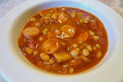 Bohnensuppe mit weißen Bohnen 4