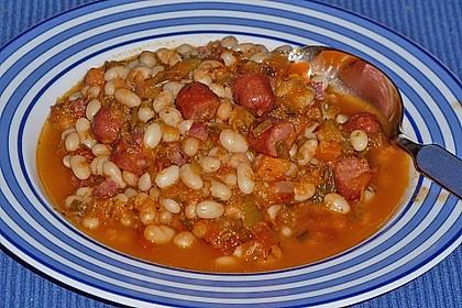 Bohnensuppe mit weißen Bohnen 7