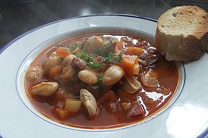 Bohnensuppe mit weißen Bohnen 6