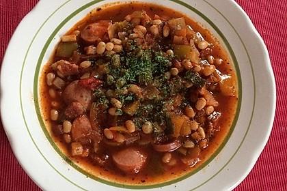 Bohnensuppe mit weißen Bohnen 2