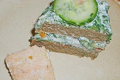 Vollkornbrot mit Spinat und Frischkäse gefüllt 1