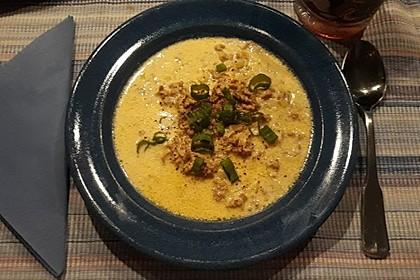 Käse-Lauch-Suppe mit Hackfleisch (Bild)