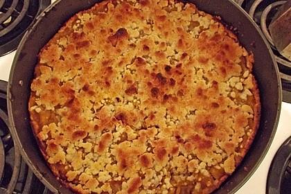 Kürbis - Apfelkuchen mit Streuseln 2