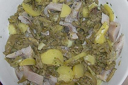 Kartoffel - Bohnen - Salat mit Matjes 1