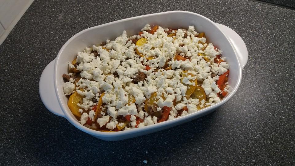 Jamies Sommerküche : Zucchini hackfleisch auflauf mit feta von ruudini chefkoch