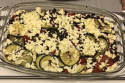 Zucchini - Hackfleisch - Auflauf mit Feta 17