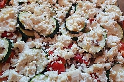 Zucchini - Hackfleisch - Auflauf mit Feta 12