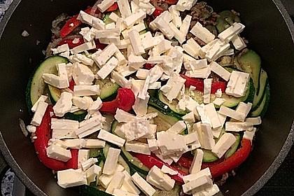 Zucchini - Hackfleisch - Auflauf mit Feta 7