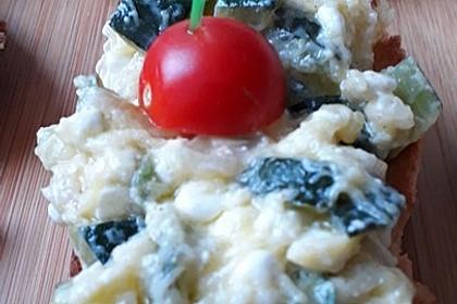 Crostini mit Zucchini - Püree 11