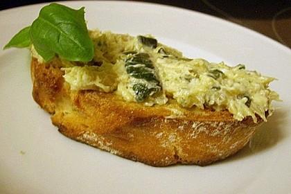 Crostini mit Zucchini - Püree 14