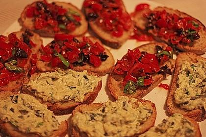 Crostini mit Zucchini - Püree 8