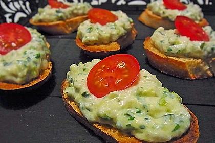 Crostini mit Zucchini - Püree