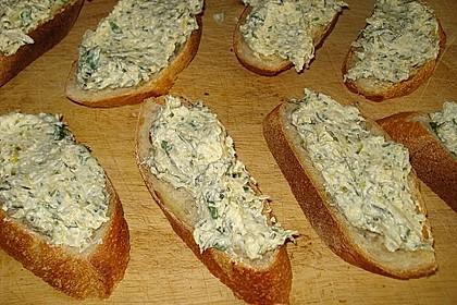 Crostini mit Zucchini - Püree 6
