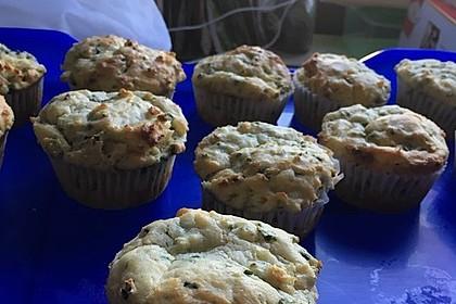 Herzhafte Muffins mit Schafskäse 5