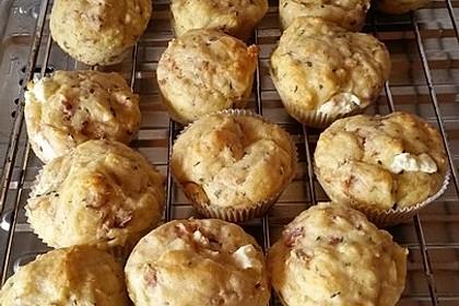 Herzhafte Muffins mit Schafskäse 4