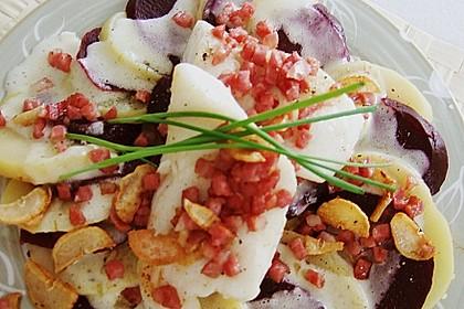 Rote Bete - Kartoffel - Carpaccio mit gebratenem Fischfilet 1