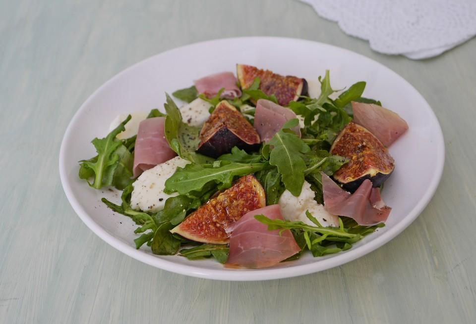 Rucola - Salat mit Feigen