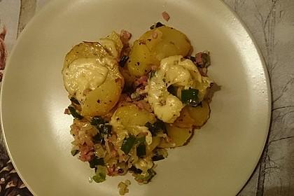 Bratkartoffeln mit Porree und Käse 8