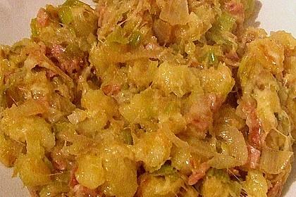 Bratkartoffeln mit Porree und Käse 16