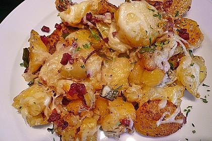 Bratkartoffeln mit Porree und Käse 1