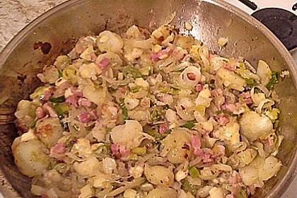 Bratkartoffeln mit Porree und Käse 17