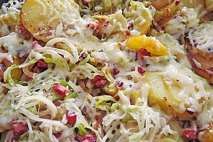 Bratkartoffeln mit Porree und Käse 10
