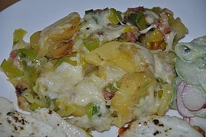 Bratkartoffeln mit Porree und Käse 13