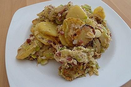 Bratkartoffeln mit Porree und Käse 9
