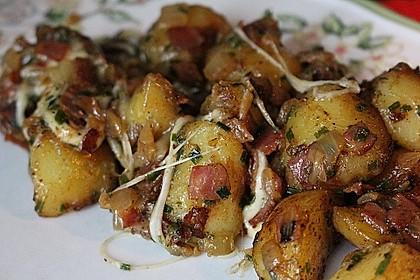 Bratkartoffeln mit Porree und Käse 3