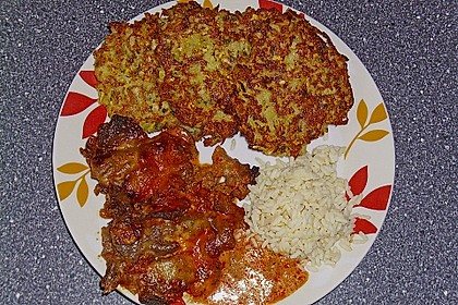 Griechische Zucchini - Küchlein 4