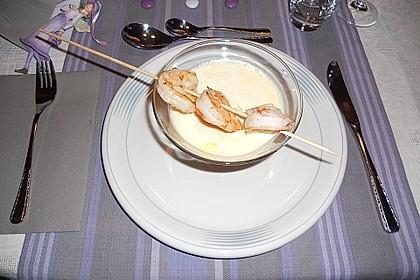 Latte Macchiato von der Karotte mit Garnelen - Spieß 4