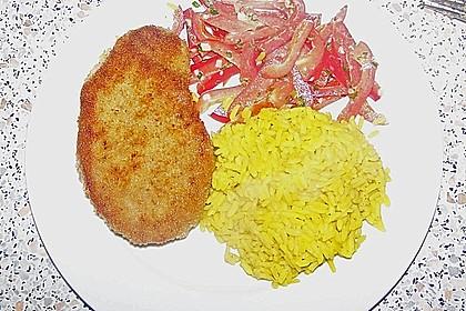 Cordon bleu mit Curryreis
