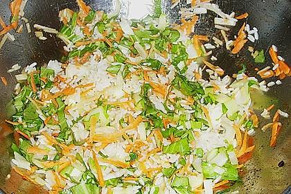 Gebackener Reis mit Hähnchenfbrustfilet und Satesoße 1