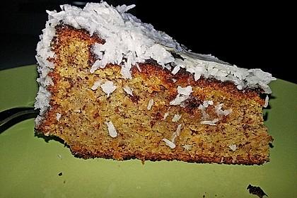 Karottenkuchen mit Milchcremeguss 1