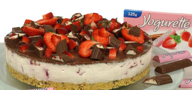 Yogurette Torte Mit Erdbeeren Chefkoch De Video