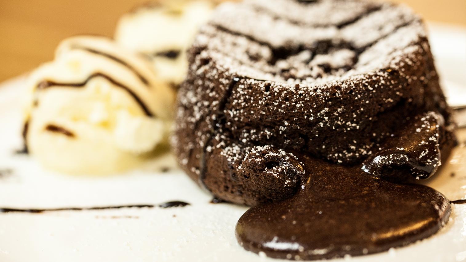 Schokolade Kuchen Mit Flussigem Kern Chocolate Lava Cake