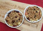 Apple Crumble mit Rosinen