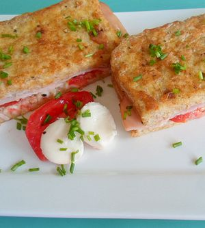 French-Toast Tomate-Mozzarella