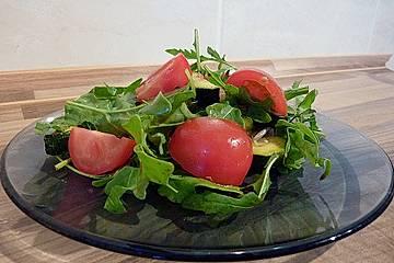 Salat von lauwarmen Grillgemüsen