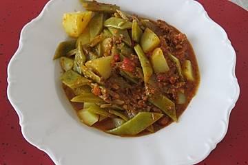Türkischer grüne Bohnentopf von Yussuf