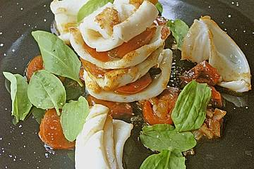 Lasagne vom Tintenfisch
