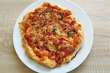 Pizzateig ohne Hefe oder Quark