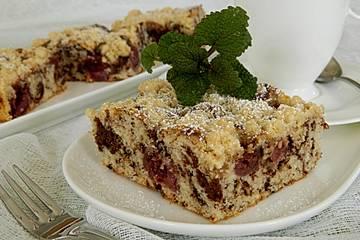 Marmor - Kirsch - Streuselkuchen