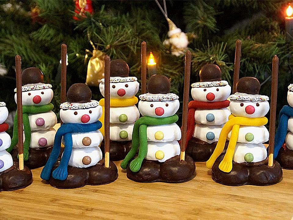 Weihnachtsbasteln Mit Süßigkeiten.Schneemänner