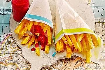 Ananas - Fritten mit Himbeer - Ketchup