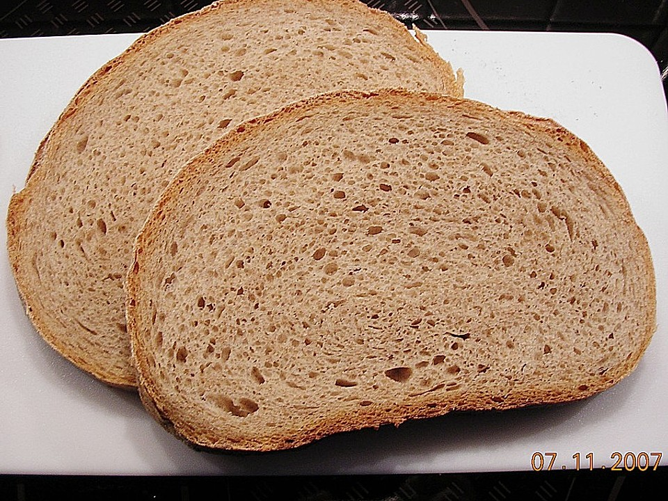 Herzhaftes Weizenmischbrot ohne Sauerteig