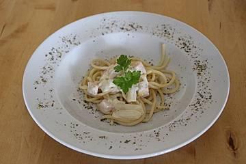 Spaghetti in Spargel-Weißwein-Soße